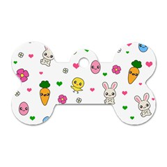 Easter Kawaii Pattern Dog Tag Bone (one Side)