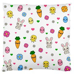 Easter Kawaii Pattern Standard Flano Cushion Case (one Side)