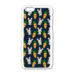 Easter Kawaii Pattern Apple Iphone 6/6s White Enamel Case by Valentinaart