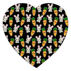 Easter Kawaii Pattern Jigsaw Puzzle (heart) by Valentinaart