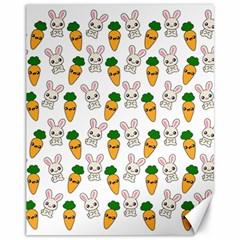 Easter Kawaii Pattern Canvas 11  X 14