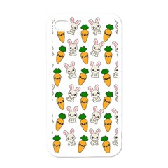 Easter Kawaii Pattern Apple Iphone 4 Case (white) by Valentinaart