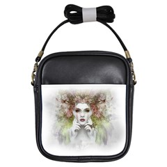 Woman Face Abstract Colorful Girls Sling Bags