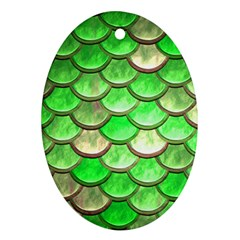 Green Mermaid Scale Ornament (oval) by snowwhitegirl
