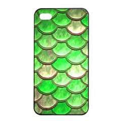 Green Mermaid Scale Apple Iphone 4/4s Seamless Case (black) by snowwhitegirl