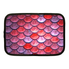 Red Mermaid Scale Netbook Case (medium)