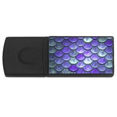 Blue Purple Mermaid Scale Rectangular Usb Flash Drive by snowwhitegirl