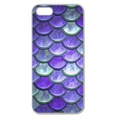 Blue Purple Mermaid Scale Apple Seamless Iphone 5 Case (clear) by snowwhitegirl
