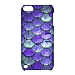 Blue Purple Mermaid Scale Apple Ipod Touch 5 Hardshell Case With Stand by snowwhitegirl