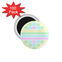 Geometric Pastel Design Baby Pale 1 75  Magnets (100 Pack)