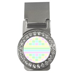 Geometric Pastel Design Baby Pale Money Clips (cz)