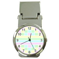 Geometric Pastel Design Baby Pale Money Clip Watches by Nexatart