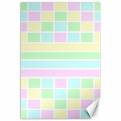 Geometric Pastel Design Baby Pale Canvas 12  X 18