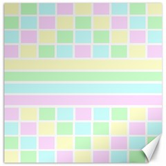 Geometric Pastel Design Baby Pale Canvas 16  X 16