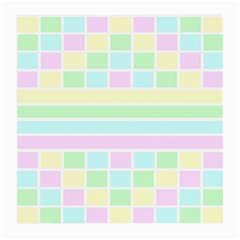 Geometric Pastel Design Baby Pale Medium Glasses Cloth (2 Side) by Nexatart