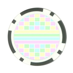 Geometric Pastel Design Baby Pale Poker Chip Card Guard