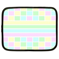 Geometric Pastel Design Baby Pale Netbook Case (large)