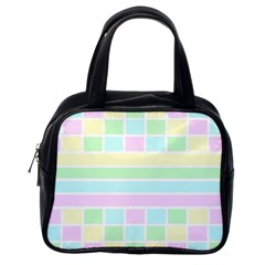 Geometric Pastel Design Baby Pale Classic Handbags (one Side)