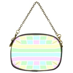 Geometric Pastel Design Baby Pale Chain Purses (one Side)