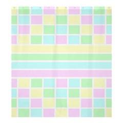 Geometric Pastel Design Baby Pale Shower Curtain 66  X 72  (large)