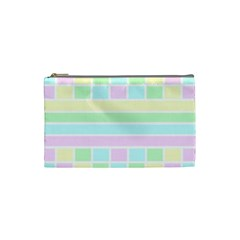 Geometric Pastel Design Baby Pale Cosmetic Bag (small)