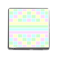 Geometric Pastel Design Baby Pale Memory Card Reader (square) by Nexatart