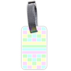 Geometric Pastel Design Baby Pale Luggage Tags (two Sides)