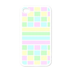 Geometric Pastel Design Baby Pale Apple Iphone 4 Case (white) by Nexatart