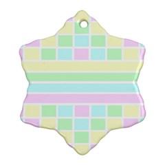 Geometric Pastel Design Baby Pale Ornament (snowflake)