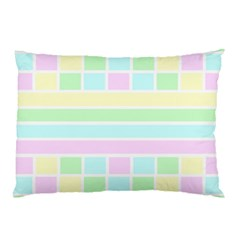 Geometric Pastel Design Baby Pale Pillow Case (two Sides)
