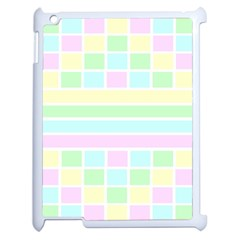 Geometric Pastel Design Baby Pale Apple Ipad 2 Case (white)