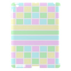 Geometric Pastel Design Baby Pale Apple Ipad 3/4 Hardshell Case (compatible With Smart Cover)