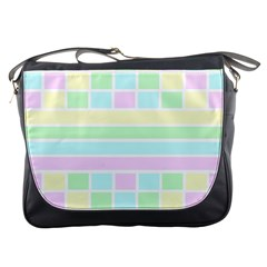 Geometric Pastel Design Baby Pale Messenger Bags