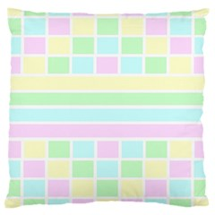 Geometric Pastel Design Baby Pale Large Cushion Case (one Side)