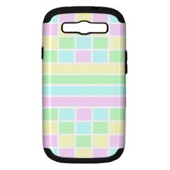Geometric Pastel Design Baby Pale Samsung Galaxy S Iii Hardshell Case (pc+silicone)