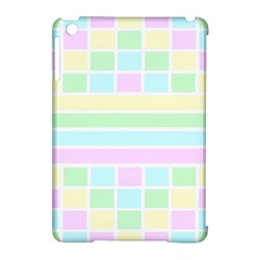 Geometric Pastel Design Baby Pale Apple Ipad Mini Hardshell Case (compatible With Smart Cover) by Nexatart