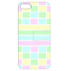Geometric Pastel Design Baby Pale Apple Iphone 5 Hardshell Case With Stand