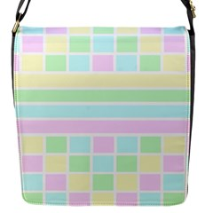 Geometric Pastel Design Baby Pale Flap Messenger Bag (s)