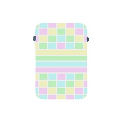 Geometric Pastel Design Baby Pale Apple Ipad Mini Protective Soft Cases by Nexatart
