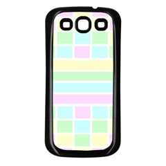 Geometric Pastel Design Baby Pale Samsung Galaxy S3 Back Case (black)