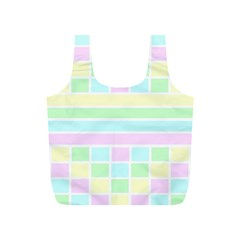 Geometric Pastel Design Baby Pale Full Print Recycle Bags (s)