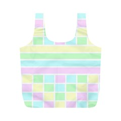 Geometric Pastel Design Baby Pale Full Print Recycle Bags (m)