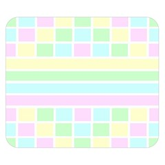 Geometric Pastel Design Baby Pale Double Sided Flano Blanket (small)