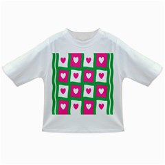 Pink Hearts Valentine Love Checks Infant/toddler T Shirts
