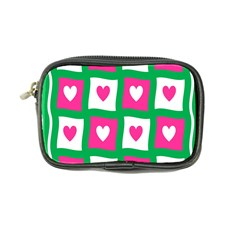 Pink Hearts Valentine Love Checks Coin Purse