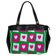 Pink Hearts Valentine Love Checks Office Handbags