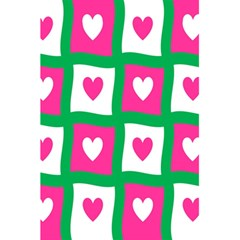 Pink Hearts Valentine Love Checks 5 5  X 8 5  Notebooks