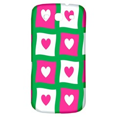 Pink Hearts Valentine Love Checks Samsung Galaxy S3 S Iii Classic Hardshell Back Case