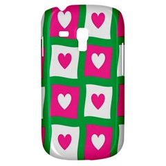 Pink Hearts Valentine Love Checks Galaxy S3 Mini