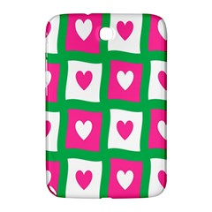 Pink Hearts Valentine Love Checks Samsung Galaxy Note 8 0 N5100 Hardshell Case